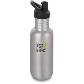 Klean Kanteen Classic Flaske Sport Cap 532ml, brushed stainless